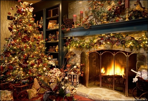 Christmas-Tree-and-Fireplace-wallpaper