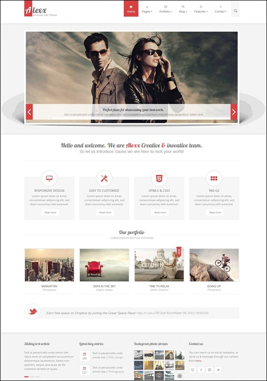 50 awesome responsive html5 templates creative cancreative can html5 theme it is based on 960 gs by nathan smith which is included in a shape of a layer in psd files which are also included in the download file maxwellsz