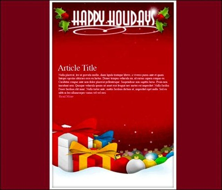 Cheerful Christmas Newsletter Templates  Creative Cancreative Can