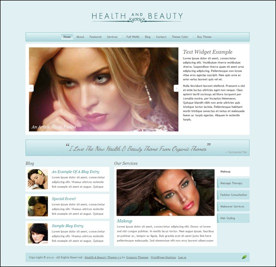 health-and-beauty-theme