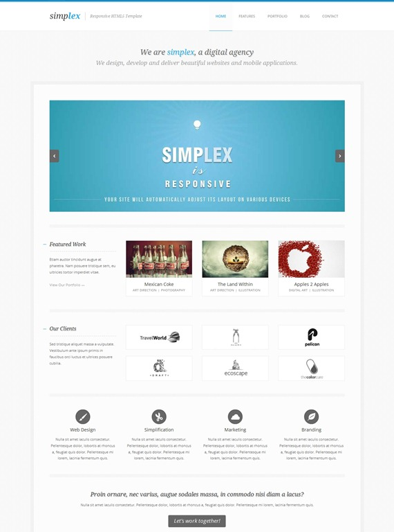 50+ Awesome Responsive HTML5 Templates - Creative CanCreative Can