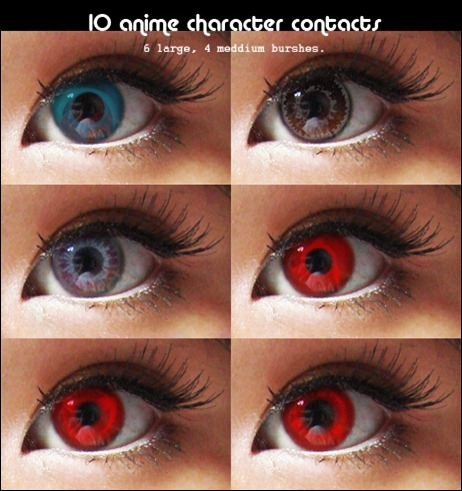10 Anime Character Contact Lens Brushes