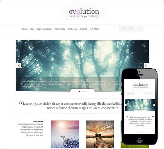 Evolution-minimal-responsive-theme