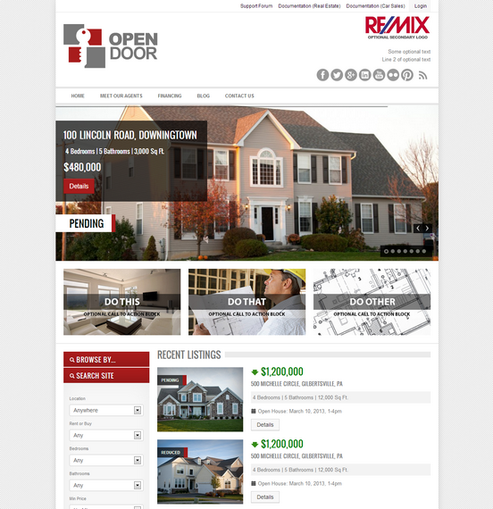 Open Door responsive real estate theme