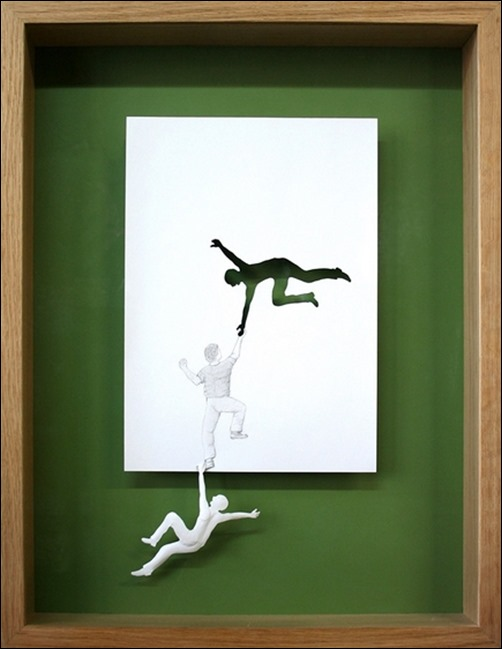 Saving-Himself-paper-art