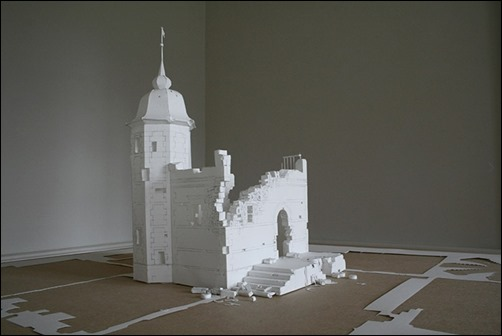 Wall-of-Unwritten-Words-paper-sculptures