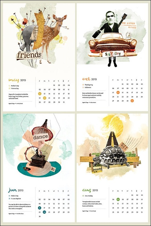 Calendar Design With Photos : Cool and unique calendar designs creative