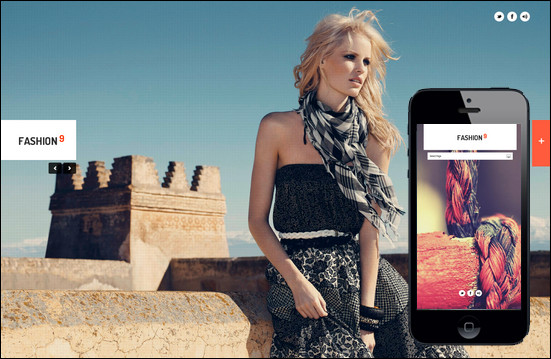 fashion9 responsive Fullscreen WordPress Theme