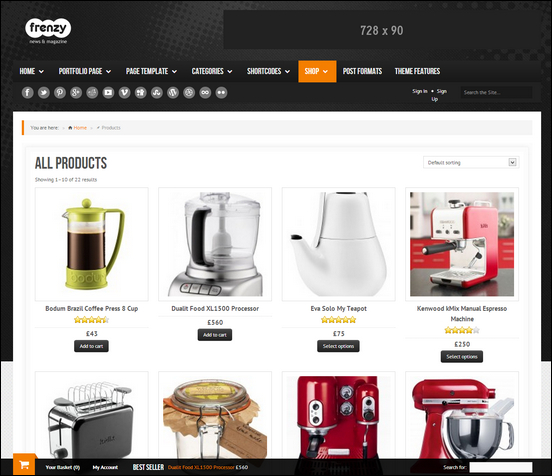 online storefront template