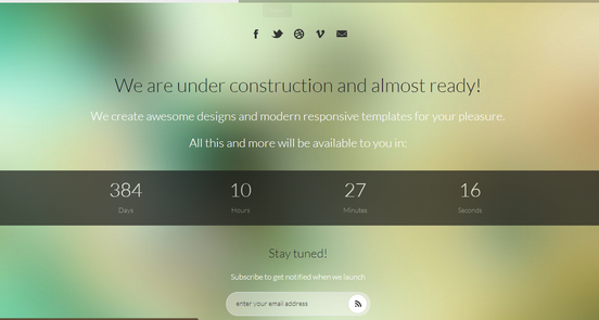 iBlurr under construction wordpress themes