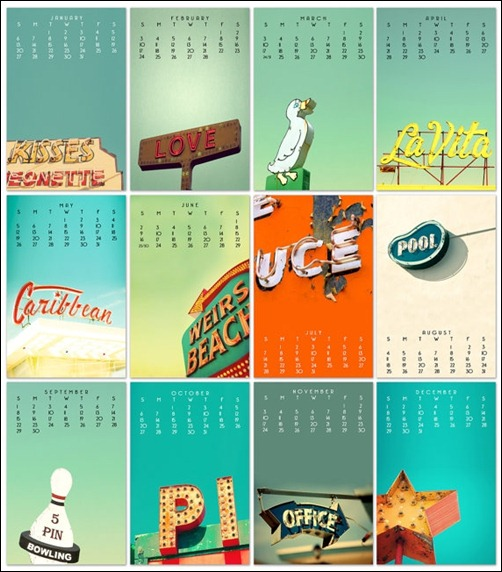 Calendar Design Pictures : Cool and unique calendar designs creative