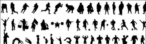 people-silhouette-vector-sets
