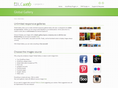 Global Gallery, WordPress Portfolio