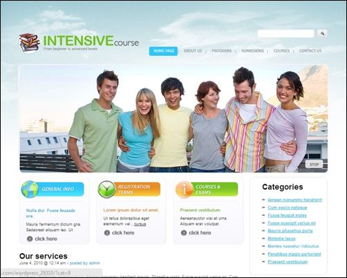 Intensive-Course-education-wordpress-themes