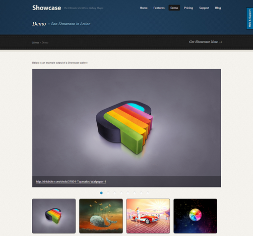 Showcase, WordPress Portfolio
