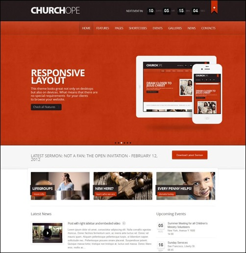 30 Engaging Church Website Templates Creative