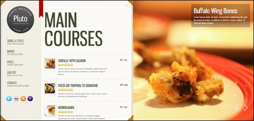 Superior Pluto Restaurant Menu Templates Regarding A La Carte Menu Template