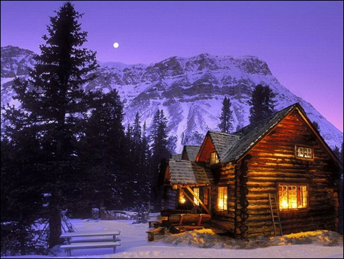 Winter Wallpaper Scenes With Cabins