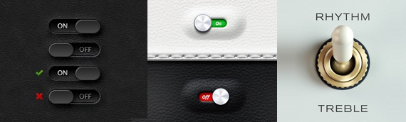 user interface switch designs