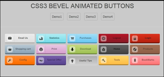 CSS3 ANIMATED ICON ROUNDED BUTTONS