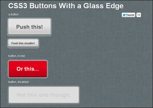 CSS3 Buttons With a Glass Edge