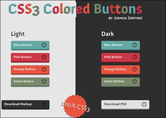 CSS3 Colored Buttons