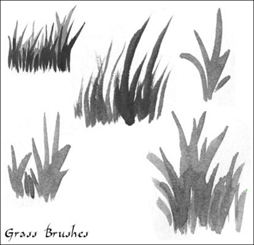 Grass-Watercolor-Brushes