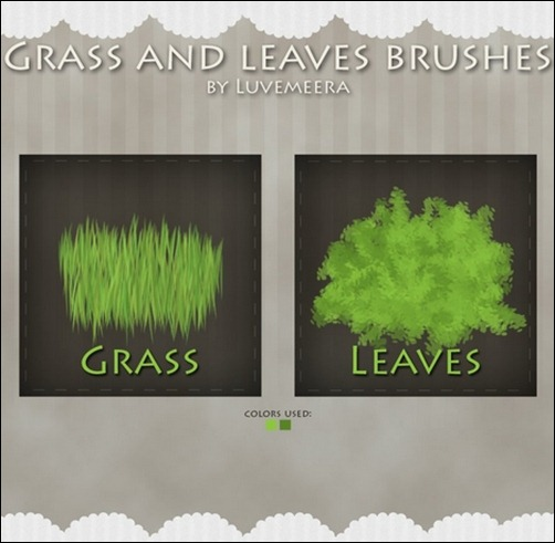 Leaves-And-Grass-Brushes