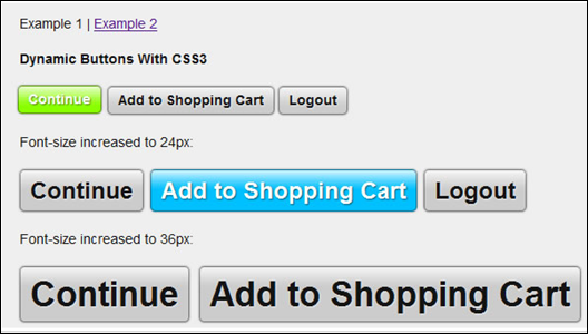 Pure CSS3 Dynamic Buttons
