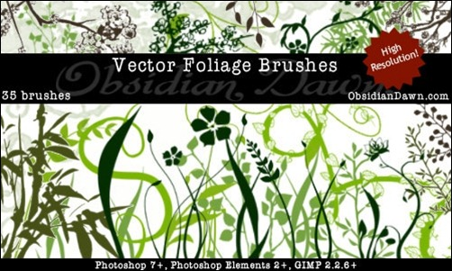 Vector-Foliage-Plants-Brushes