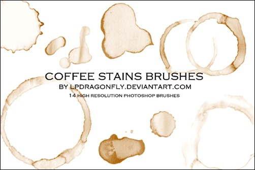 coffee_stains_brushes_by_lpdragonfly