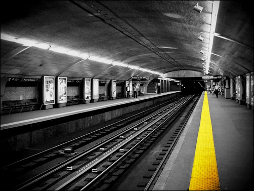 Urban subway train stations monochrome selective coloring more info · urban subway train stations monochrome selective coloring