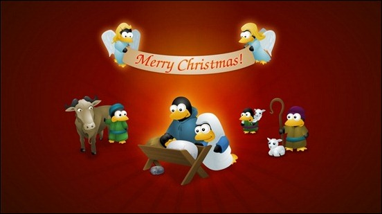 cute-cartoon-christmas-penguin-wallpaper