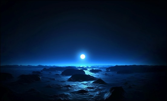 35 blue sky and moon wallpapers creative cancreative can full moon wallpaper more info voltagebd Images