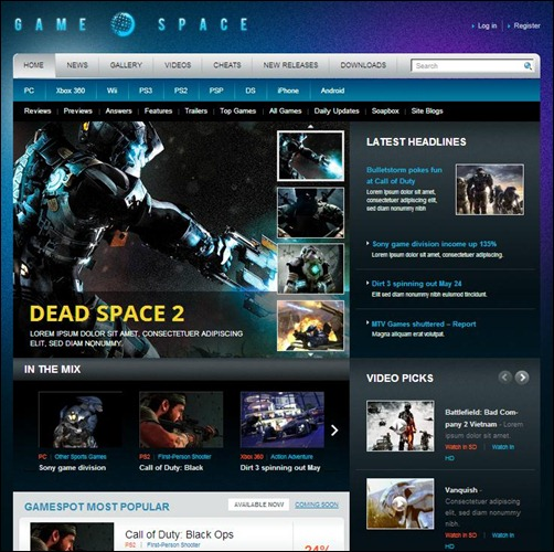 Game-Space-WordPress-Theme