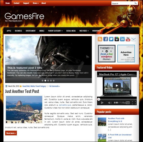 GameFire-WordPress-Theme