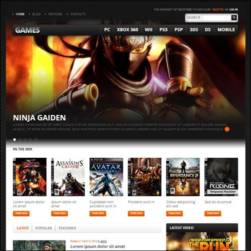 Games-2-WordPress-Theme