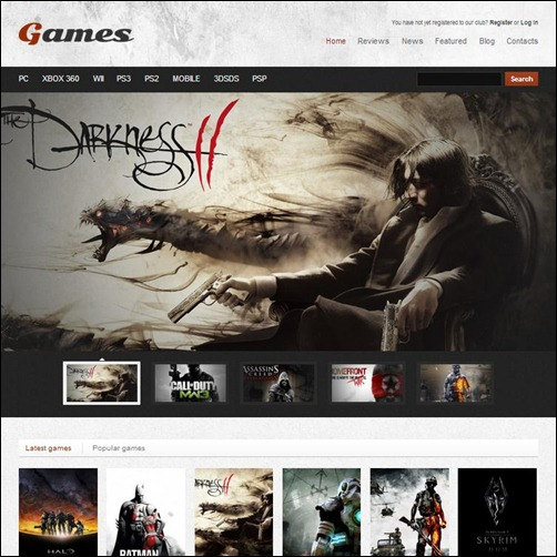 Games-WordPress-Template