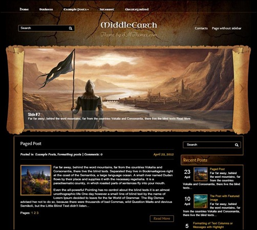 MiddleEarth-WordPress-Theme