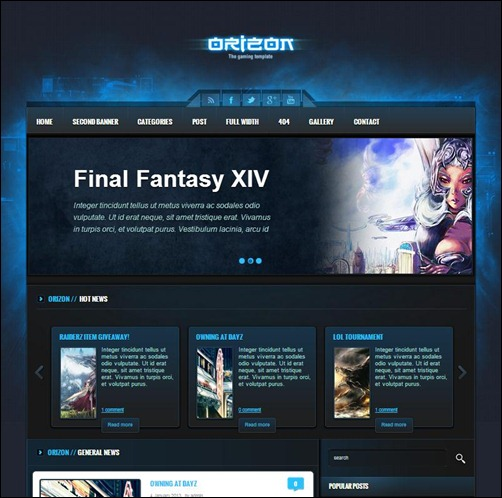 Orizon-WP-Gaming-Template