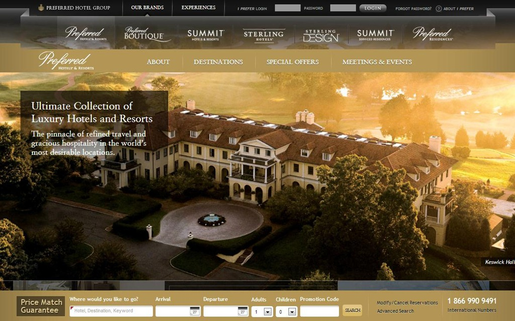 40 beautiful travel websites to inspire you creative for Hotel web design