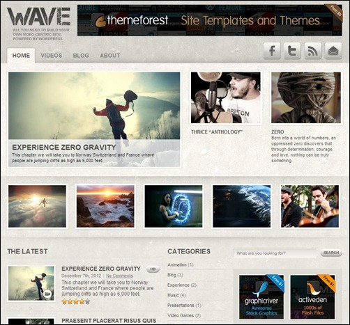 Wave-Wordpress-Gaming-Theme