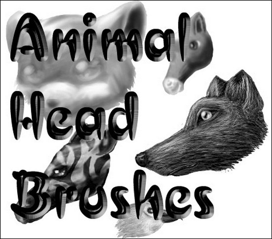 animal-head-brushes