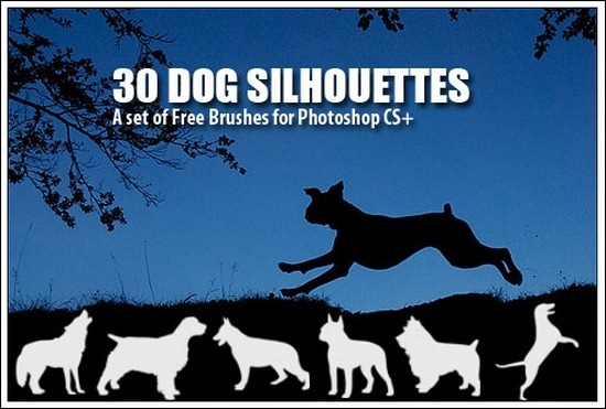 dog-silhouettes-brushes