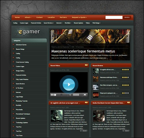 eGamer-WordPress-Theme