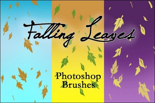 falling-leaves-brushes