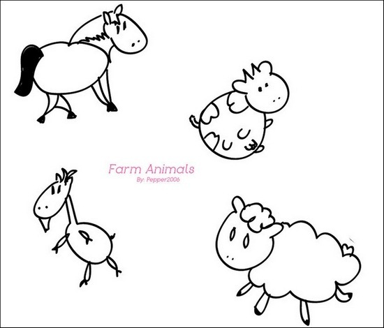 farm-animal-brushes