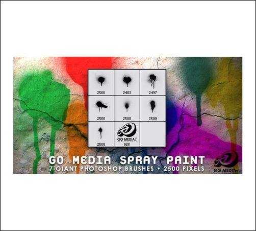 go-media-spray-paint-brush