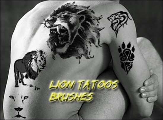 lion-tatoos-brushes