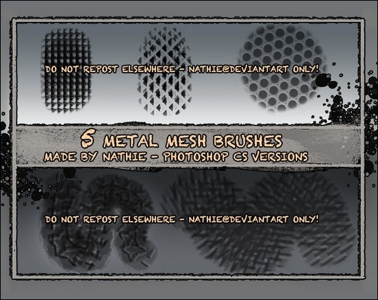 metal-mesh-texture-brushes